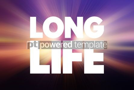 Business: Long Life text quote concept background #18758