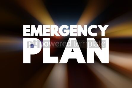 Business: Emergency Plan text quote concept background #18788