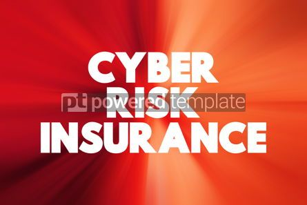Business: Cyber Risk Insurance text quote concept background #18794
